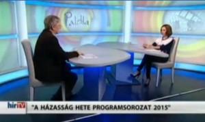 Beszélgetés a házasság hetéről a HírTv Paletta műsorában
