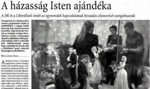 A házasság Isten ajándéka – Magyar Nemzet