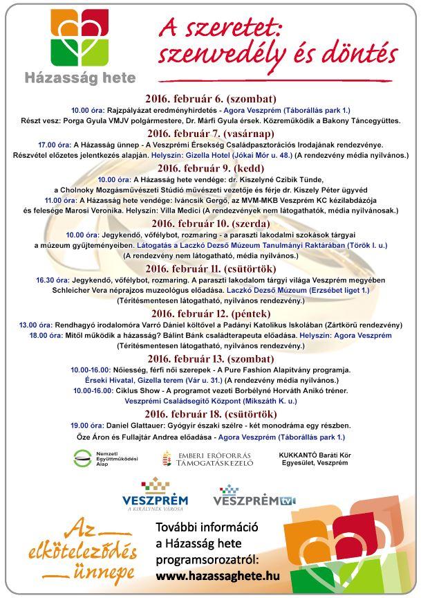 ab44ac6eea Veszprémi programok - Házasság hete | Házasság hete