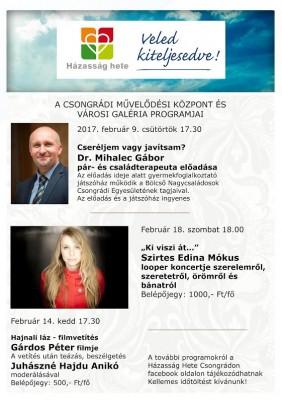 Művelődési Központ programjai