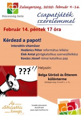 Zalaegerszeg - Kérdezd a papot!
